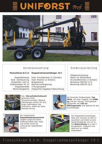 Prospekt Uniforst Profi - Spezielle-Agrar-Systeme GmbH
