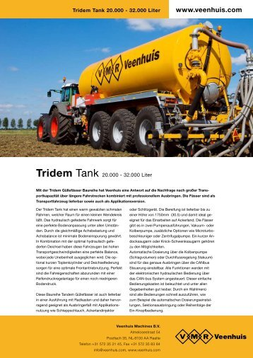 Prospekt Premium Tridemtank - Spezielle-Agrar-Systeme GmbH