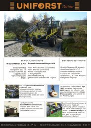 Prospekt Uniforst Partner - Spezielle-Agrar-Systeme GmbH