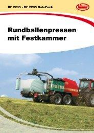 Rundballenpressen mit Festkammer - Spezielle-Agrar-Systeme GmbH