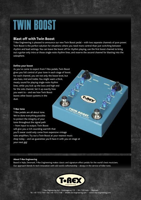 Twin Boost product sheet - T-Rex Engineering