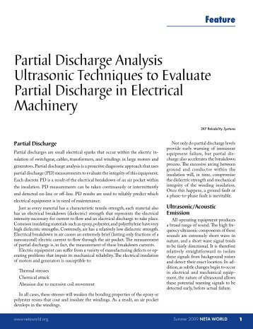 Partial Discharge Analysis Ultrasonic Techniques to Evaluate ... - Neta