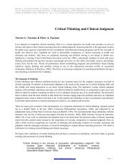 Critical Thinking and Clinical Judgment PDF - Insight Assessment