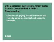 U.S. Geological Survey New Jersey Water Science Center (USGS ...