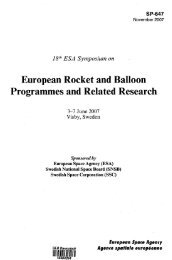 European Rocket and Balloon Programmes and Related Research