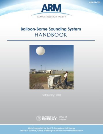 Balloon-Borne Sounding System (SONDE) Handbook - ARM