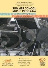 SUMMER SCHOOL MUSIC PROGRAM - Sound Thinking Australia
