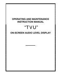 operating and maintenance instruction manual - Inovonics