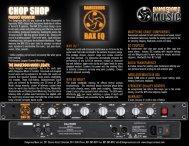 BAX EQ Chop Shop/Fact Snack - Dangerous Music