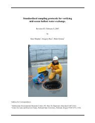 Standardized sampling protocols for verifying mid-ocean ballast ...