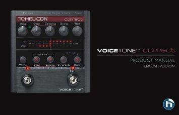 VoiceTone Correct - TC-Helicon