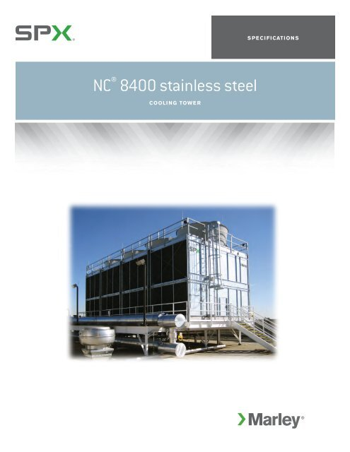 Marley NC Stainless Steel Cooling Tower Sales Specifications