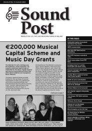 €200,000 Musical Capital Scheme and Music Day Grants - Siptu