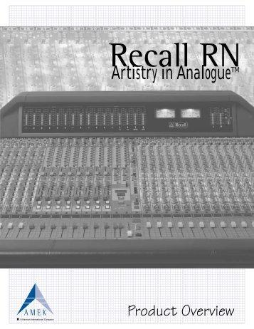 Recall RN - Amek