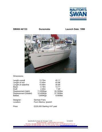 Swan 44 mk 2 Frers - NAutor's Swan UK