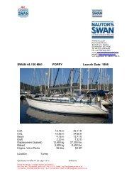 SWAN 44.130 MkII POPPY Launch Date: 1998 - NAutor's Swan UK