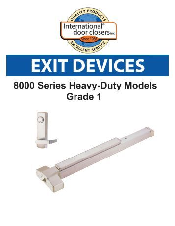 Concealed Vertical Rod Exit Device 9600 F9600 Series
