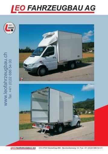 Leo Fahrzeugbau AG Prospekt Kühlfahrzeug