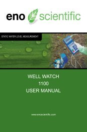 WELL WATCH 1100 USER MANUAL - Eno Scientific