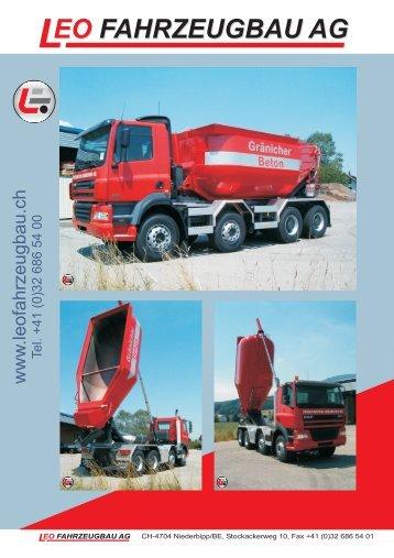 Leo Fahrzeugbau AG Prospekt Transportsilo