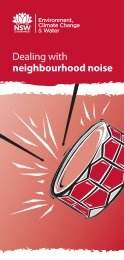 Dealing with neighbourhood noise brochure - Department of ...