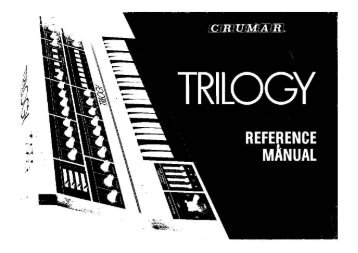 Crumar Trilogy Reference Manual - Fdiskc