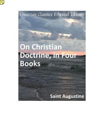 On Christian Doctrine - St Augustine - Saint Mina Coptic Orthodox ...