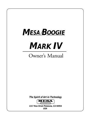 80 free magazines from mesaboogie com rh yumpu com Mesa Boogie Studio 22 Mesa Boogie Mark V