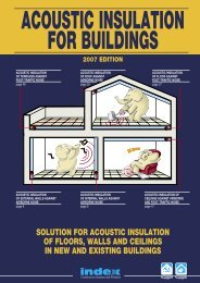 Acoustic Insulation - Index S.p.A.