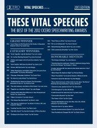 THESE VITAL SPEECHES