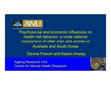 Psychosocial and economic influences on health risk behavior