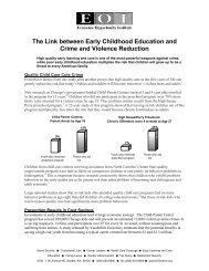 The Link between Early Childhood Education and Crime and ...