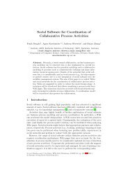 Social Software for Coordination of Collaborative Process Activities