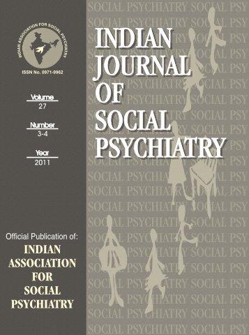 IJSP-2011-Vol 3-4.pdf - Indian Association For Social Psychiatry