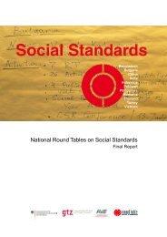 National Round Tables on Social Standards ... - Der Runde Tisch