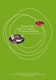 Round Table Codes of Conduct on Social ... - Der Runde Tisch