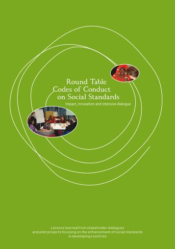 Round Table Codes of Conduct on Social ... - Der Runde Tisch