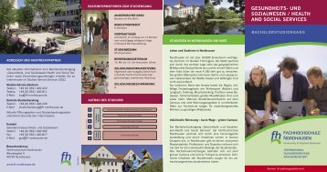 Health and Social Services - Fachhochschule Nordhausen