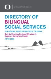 directory of bilingual social services - Center for the Study of Women ...