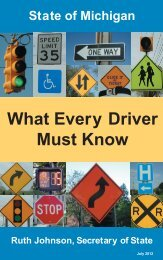 What Every Driver Must Know (SOS-133) - State of Michigan