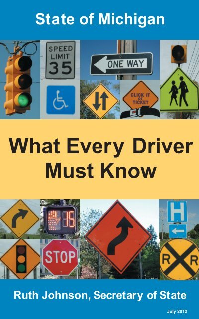 What Every Driver Must Know SOS 133 State Of Michigan