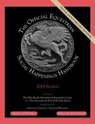 H E FFICIAL EQUESTRIAN 2013 SEASON - Sidelines Magazine