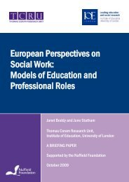 European Perspectives on Social Work: Models of Education