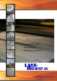 Kompetenz in der Verarbeitung technischer Textilien ... - Lanz Anliker