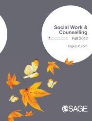 Social Work & Counselling - Sage Publications