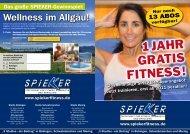 Wellness im Allgäu! - Fitness Spieker