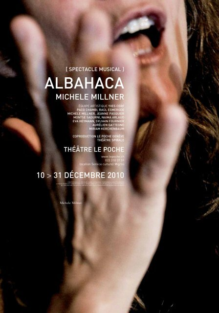 ALBAHACA SPECTACLE MUSICAL - Le Poche
