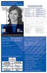 Small Business Development Center - Kilgore College