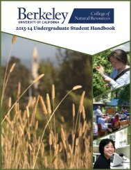 2013-14 Undergraduate Student Handbook - College of Natural ...