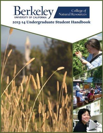 2013-14 Undergraduate Student Handbook - College of Natural ...